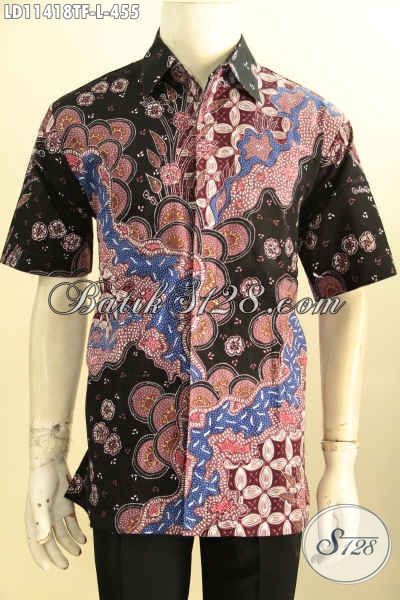 Baju Batik Kerja Cowok Model Lengan Pendek Motif Terbaru, Hem Batik Istimewa Full Furing Proses Tulis, Elegan Juga Untuk Kondangan