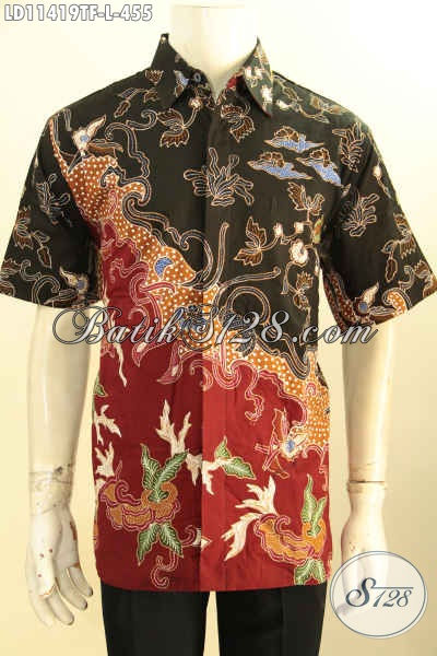 Batik Hem Keren Untuk Penampilan Tampan Dan Gagah, Busana Batik Solo Lengan Pendek Motif Bagus Tulis Asli Di Lengkapi Lapisan Furing Hanya 400 Ribuan Saja