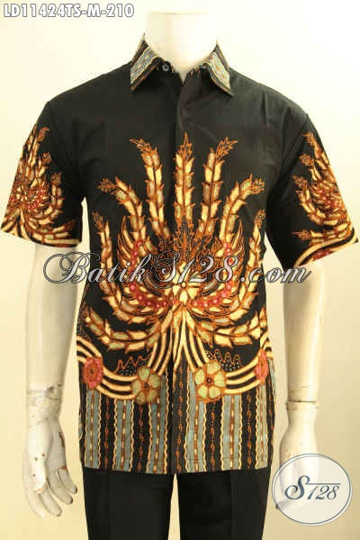 Sedia Baju Kemeja Batik Solo Nan Istimewa, Pakaian Batik Modern Terkini Bahan Adem Kwalitas Bagus Lengan Pendek Motif Unik Proses Tulis Soga, Bisa Buat Kerja Atau Kondangan