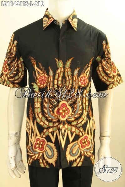 Batik Hem Solo Istimewa Model Lengan Pendek, Pakaian Batik Modern Terbaik Kwalitas Bagus Motif Terbaru Proses Tulis Soga, Cocok Banget Untuk Kerja