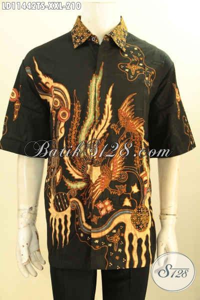 Busana Batik Solo Spesial Untuk Pria Gemuk, Baju Batik Solo Modern Lengan Pendek Big Size Motif Bagus, Cocok Untuk Kerja Dan Acara Kondangan