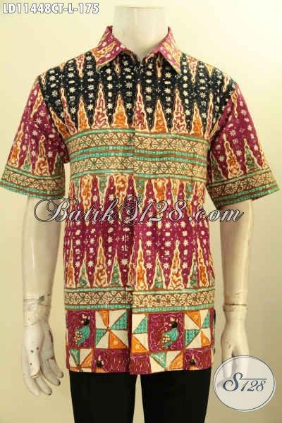 Toko Baju Batik Online Paling Up To Date, Sedia Kemeja Lenga Pendek Motif Mewah Bahan Halus Proses Cap Tulis, Pakaian Batik Kekinian Yang Bikin Pria Terlihat Tampan Dan Keren