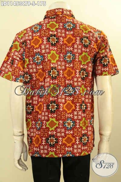 Baju Kemeja Batik Trendy Motif Baru Nan Berkelas, Kemeja Batik Keren Lengan Pendek Cap Tulis, Pas Untuk Kerja Dan Acara Formal