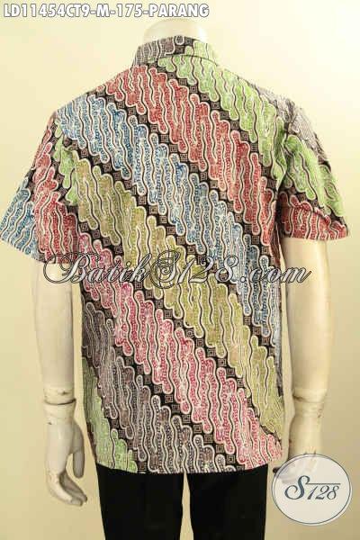 Produk Busana Batik Pria Lengan Pendek Terbaru, Hadir Dengan Motif Parang Proses Cap Tulis Kwalitas Istimewa Yang Cocok Untuk Kerja Kantoran Dan Kondangan