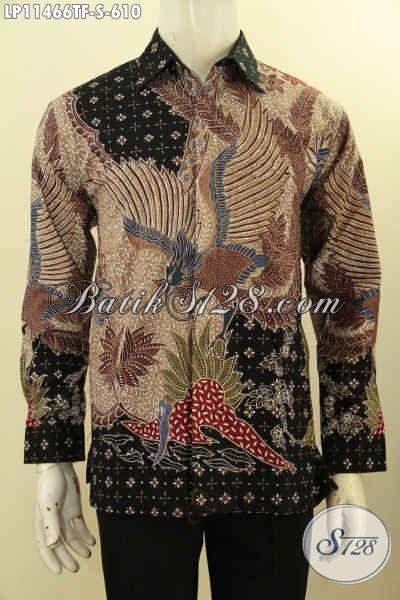 Pakaian Batik Mewah Terbaru Motif Bagus, Busana Batik Tulis Asli Model Lengan Panjang Dengan Lapisan Furing, Tampil Gagah Berkelas Bak Pejabat
