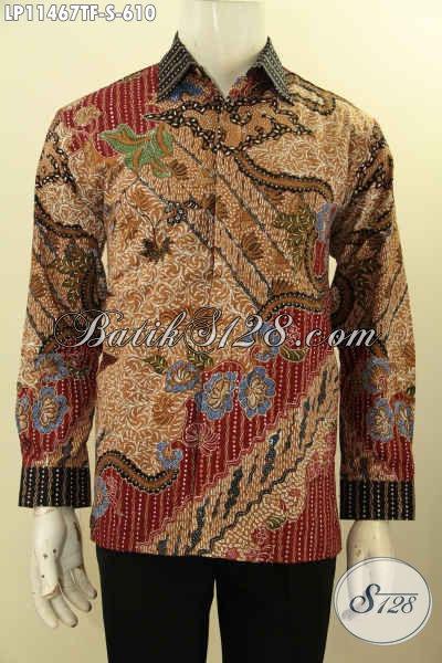 Toko Baju Batik Premium Online, Sedia Kemeja Batik Mewah Halus Lengan Panjang Nan Berkelas Daleman Pakai Furing Motif Tulis Asli Hanya 600 Ribuan
