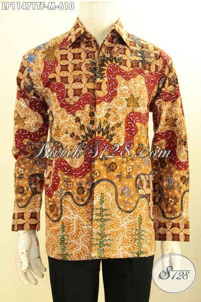 Toko Busana Batik Online Terlengkap, Sedia Kemeja Batik Solo Jawa Tengah Halus Model Lengan Panjang Mewah Full Furing, Pakaian Batik Berkelas Tulis Asli, Penampilan Lebih Premium