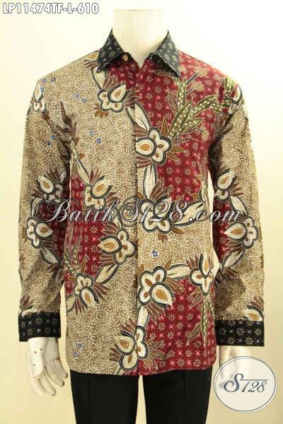 Busana Batik Elegan Berkelas Tren Masa Kinim, Kemeja Batik Tulis Mewah Halus Model Lengan Panjang Pakai Furing, Cocok Untuk Para Pejabat Dan Eksekutif