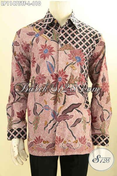 Koleksi Busana Batik Pria Lengan Panjang Mewah Terbaru, Pakaian Batik Kemeja Tulis Berkelas Dengan Lapisan Furing, Pas Untuk Rapat Dan Acara Resmi Lainnya