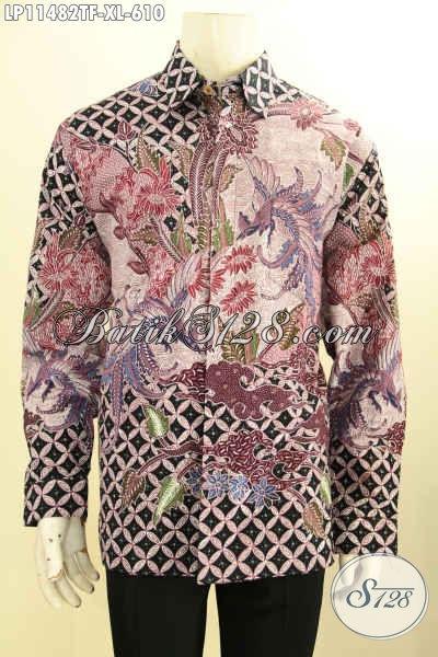 Toko Online Busana Batik Pria Pilihan Up To Date, Sedia Kemeja Lengan Panjang Premium Tulis Asli, Busana Batik Berkelas Khas Pejabat Size XL Lengan Panjang Full Furing Motif Bagus Hanya 600 Ribuan
