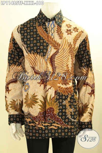 Baju Batik Pria Gemuk Terbaru, Busana Batik Mewah Lengan Panjang Full Furing Bahan Adem Nyaman Di Pakai, Pakaian Batik Elegan Tulis Asli Untuk Penampilan Makin Percaya Diri