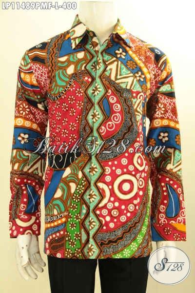 Busana Batik Keren Motif Unik Model Lengan Panjang Full Furing Daleman Full Furing Proses Kombinasi Tulis, Pria Tampil Trendy Dan Modis