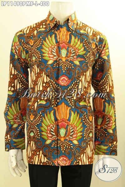 Model Baju Batik Solo Lengan Panjang Nan Mewah, Busana Batik Premium Full Furing Nan Berkelas Bahan Adem Motif Kekinian Proses Kombinasi Tulis Hanya 400K