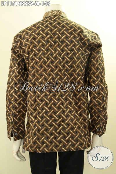 Batik Hem Elegan Desain Mewah Motif Bagus Koko Kerah Shanghai, Istimewa Untuk Acara Resmi Atau Kondangan Tampil Mempesona
