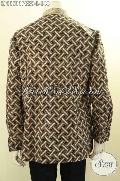 Baju Kemeja Batik Pria Terbaru Dengan Motif Mewah Model Koko Kerah Shanghai, Elegan Untuk Acara Resmi Dan Berkelas Untuk Kondangan [LP11511PBK-L]