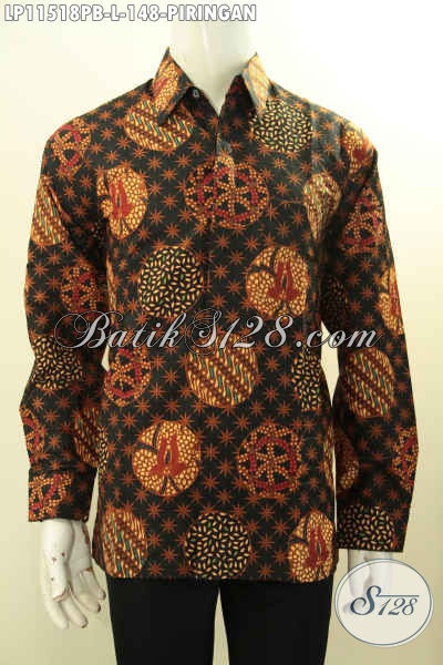 Batik Kemeja Solo Modern Hadir Dengan Motif Elegan Modern Klasik, Busana Batik Solo Asli Lengan Panjang Proses Printing Cabut, Pas Banget Untuk Kondangan