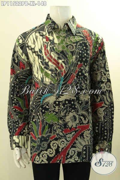 Kemeja Batik Pria Dewasa Lengan Panjang Motif Mewah Proses Printing Cabut Bahan Adem, Cocok Banget Untuk Kerja Dan Acara Resmi Tampil Berkelas