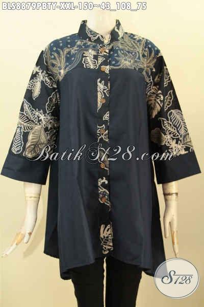 Batik Blouse Wanita Gemuk Size Xxl Busana Batik Modern Kerah