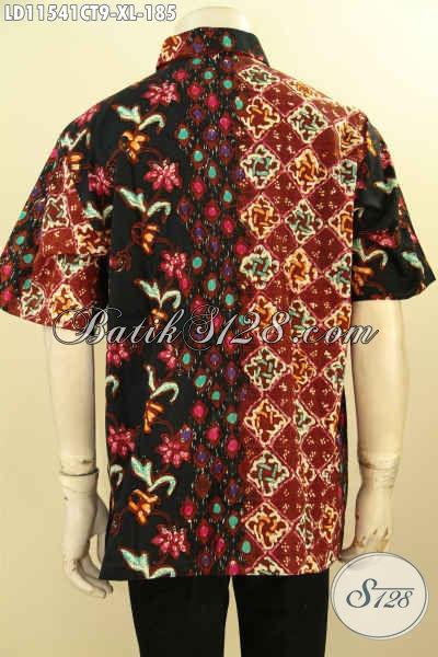 Produk Terkini Busana Batik Pria Untuk Seragam Kerja, Kemeja Batik Lengan Pendek Motif Trendy Proses Cap Tulis Berpadu Warna Berkelas Menunjang Penampilan Lebih Sempurna [LD11541CT-XL]