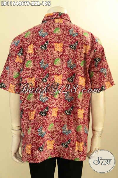 Hem Batik Keren Spesial Untuk Pria Gemuk, Busana Batik Solo Asli Kwalitas Bagus Proses Cap Tulis Motif Kombinasi, Pakaian Batik Berkelas Untuk Penampilan Makin Sempurna