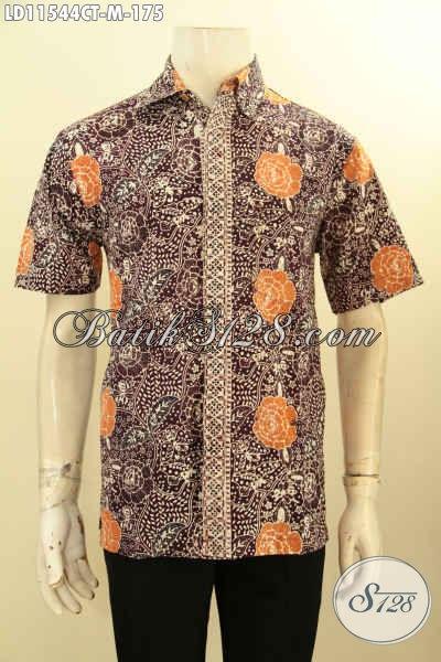 Jual Baju Batik Pria Modern Online, Hem Batik Halus Motif Keren Proses Cap Tulis, Busana Batik Kawula Muda Untuk Tampil Tampan Mempesona