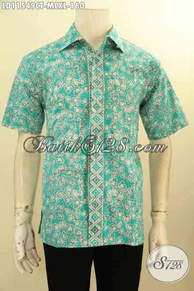 Baju Batik Modis Warna Trendy Motif Unik Proses Cap Tulis, Aneka Busana Batik Pria Lengan Pendek Kekinian Yang Menunjang Penampilan Gagah Menawan