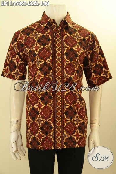 Baju Kemeja Batik Pria Lengan Pendek Halus Motif Elegan Dengan Sentuhan Klasik, Busana Batik Modern Nan Istimewa Cocok Untuk Kerja Dan Acara Kondangan