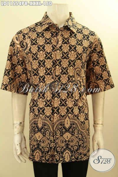 Koleksi Busana Batik Pria Terbaru Motif Elegan Model Lengan Pendek, Baju Batik Pria Kekinian Spesial Untuk Yang Berbadan Gemuk, Menunjang Penampilan Lebih Menawan
