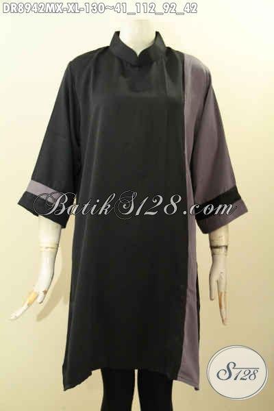 Model Baju Dress Solo Lengan 7/8, Busana Wanita Masa Kini Yang Modis Buat Ngantor Dan Acara Resmi, Penampilan Terlihat Anggun Dan Cantik