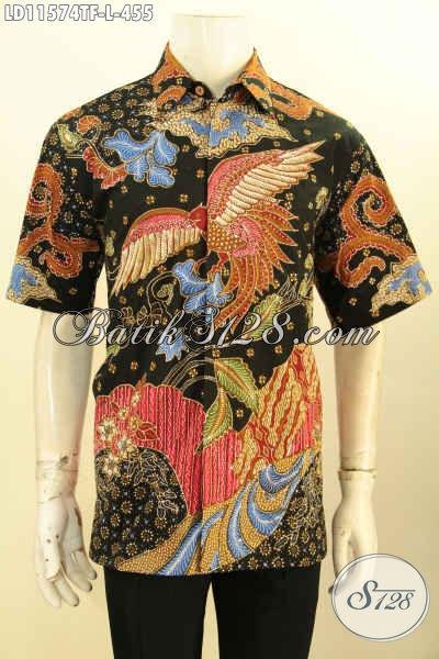 Kemeja Batik Tulis Lengan Pendek Full Furing, Hem Batik Kerja Motif Bagus Kwalitas Premium Yang Memuat Penampilan Gagah Menawan