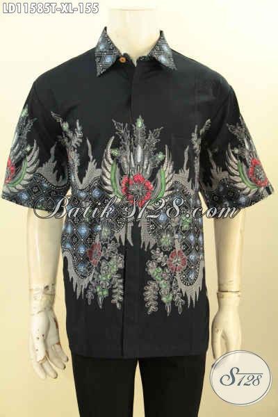 Model Busana Batik Solo Keren Lengan Pendek, Hem Batik Modis Halus Motif Trendy Proses Tulis, Cocok Buat Ngantor Dan Jalan-Jalan