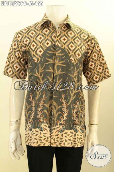 Batik Hem Pria Lengan Pendek Solo Asli, Busana Batik Modis Keren Proses Printing Desain Terbaru Yang Membuat Penampilan Gagah Dan Tampan Maksimal