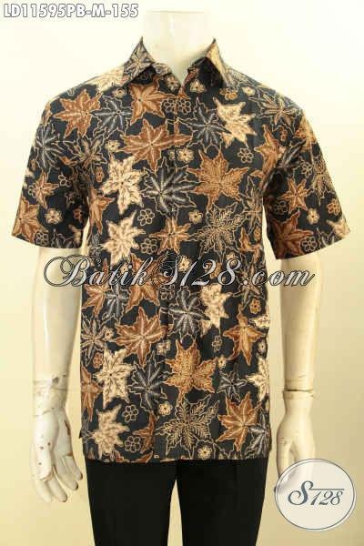 Baju Batik Lengan Pendek Pria Motif Terbaru, Kemeja Batik Modis Halus Proses Printing Cabut Bahan Adem Yang Nyaman Di Pakai, Cocok Buat Kerja Dan Kondangana