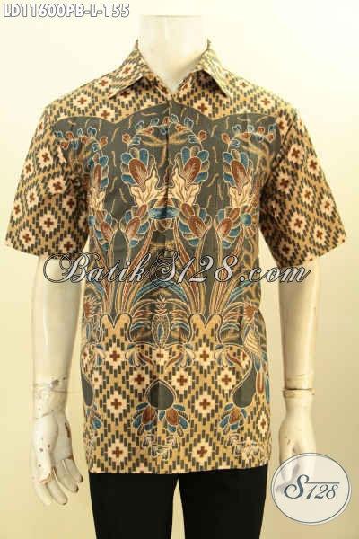 Produk Busana Batik Pria Terbaik Kekinian, Hadir Dengan Motif Bagus Nan Elegan Proses Printing Cabut, Pas Buat Ngantor Dan Acara Resmi