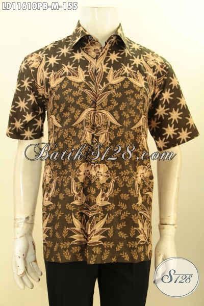 Baju Batik Printing Lengan Pendek Motif Trendy, Pakaian Batik Solo Halus Kwalitas Istimewa, Pria Tampil Stylish Dan Keren