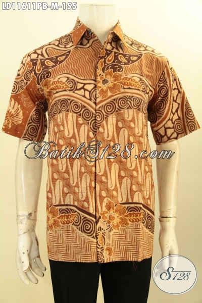 Koleksi Busana Batik Pria Terbaru, Baju Batik Modis Keren Elegan Proses Printing Cabut Bahan Adem Model Terbaru, Penampilan Lebih Gagah Menawan