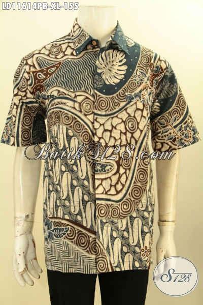 Model Baju Batik Pria Untuk Kerja, Hem Batik Elegan Motif Mewah Proses Printing Cabut Asli Solo, Di Jual Online 155K Cocok Buat Ngantor Dan Hangout