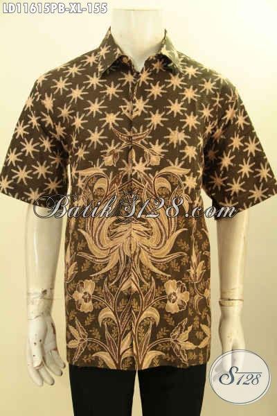 Toko Busana Batik Solo Online, Sedia Kemeja Batik Pria Lengan Pendek Halus Motif Bagus Proses Printing Bahan Adem Kwalitas Istimewa, Bikin Penampilan Gagah Dan Mempesona