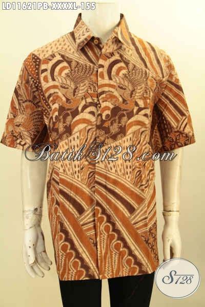Baju Batik Istimewa untuk Pria Gemuk Sekali, Kemeja Batik Lengan Pendek Keren Motif Tren Masa Kini Bahan Halus Nyaman Di Pakai, Penampilan Lebih Stylish