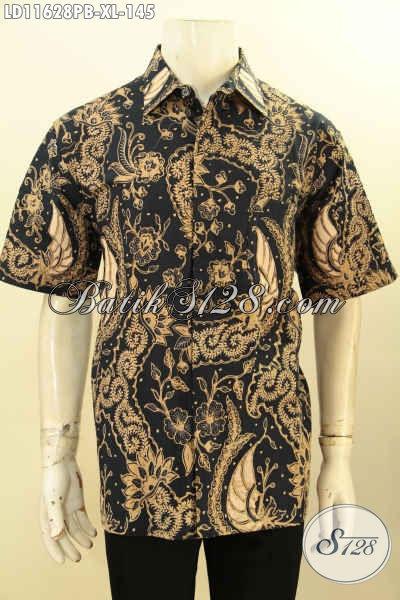 Produk Baju Batik Koleksi Kwalitas Istimewa Lengan Pendek, Hem Batik Halus Nan Berkelas Motif Bagus Proses Printing Cabut Untuk Kerja Maupun Acara Resmi Tampil Elegan