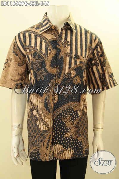 Batik Hem Modis Motif Elegan Model Lengan Pendek, Busana Batik Pria Gemuk Nan Berkelas Proses Printing Cabut Hanya 155K, Pas Banget Untuk Acara Resmi