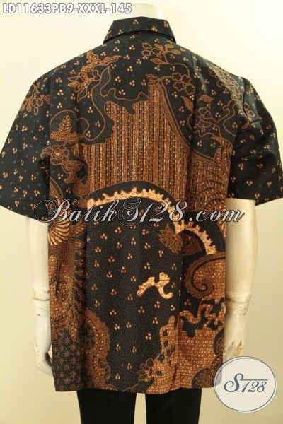 Kemeja Batik Pria Gemuk Lengan Pendek Elegan Motif Terbaru, Baju Batik Printing Cabut Nan Berkelas Spesial Acara Resmi Dan Kondangan Dengan Harga Yang Terjangkau