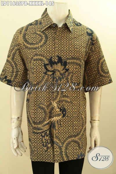 Batik Kemeja Solo Nan Istimewa, Pakaian Batik Model Lengan Pendek Motif Klasik Nan Elegan Proses Printing Cabut Khas Jawa Tengah, Bisa Buat Kerja Ataupun Kondangan