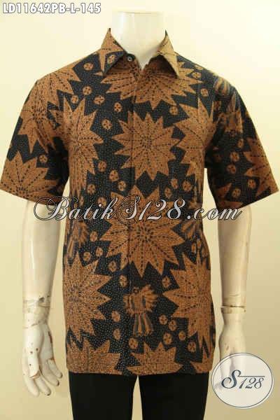 Koleksi Produk Busana Batik Terbaru, Hem Batik Lengan Pendek Nan Elegan Kwalitas Istimewa Motif Bagus Dan Berkelas Proses Printing Cabut, Cocok Untuk Acara Santai Maupun Resmi