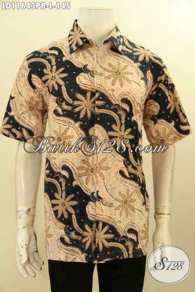 Busana Batik Elegan Untuk Pria Tampil Berkelas, Baju Batik Asli Solo Model Lengan Pendek Nan Istimewa Kwalitas Bagus Bahan Adem Yang Nyaman Di Pakai Hanya 145K