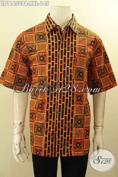 Kemeja Batik Solo Nan Istimewa, Pakaian Batik Pria Gemuk  Lengan Pendek Halus Motif Bagus Tren Terkini, Menunjang Penampilan Lebih Istimewa