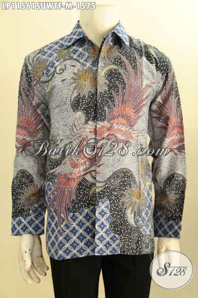 Sedia Kemeja Batik Premium Bahan Sura Kesukaan Para Pejabat, Hem Batik Mewah Motif Terbaru Tulis Asli Model Lengan Panjang Pakai Furing, Tampil Gagah Berwibawa
