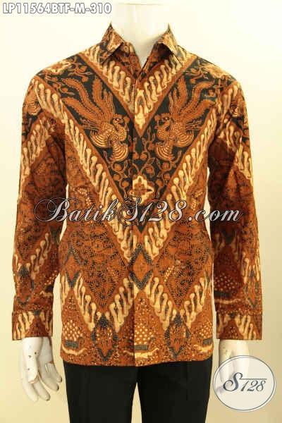 Kemeja Batik Lengan Panjang Motif Klasik Full Furing, Busana Batik Elegan Untuk Acara Formal Proses Kombinasi Tulis Hanya 300 Ribuan