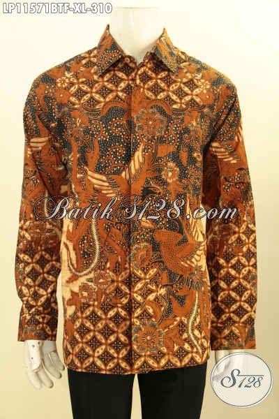 Sedia Kemeja Batik Lengan Panjang Kwalitas Premium, Baju Batik Mewah Daleman Full Furing Motif Klasik Kombinasi Tulis, Di Jual Online Harga Terjangkau