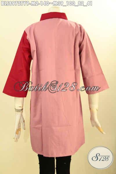 Baju Modern Wanita Muda, Hadir Dengan Kombinasi Warna Cerah Nan Trendy, Bahan Halus Kain Toyobo Kwalitas Istimewa, Menunjang Penampilan Lebih Cantik Mempesona [BLS8972TY-M]